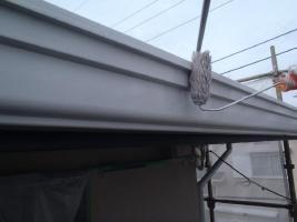 茨城県取手市K様邸の外壁塗装と屋根塗装工程:下塗り