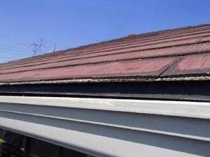 茨城県取手市 M様邸 外壁塗装と屋根塗装の雨どいの施工前写真