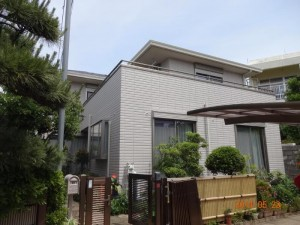 柏市 N様外壁塗装と屋根塗装の外壁の施工後写真