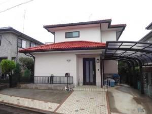 茨城県つくばみらい市 N様邸 外壁塗装と屋根塗装の外観の施工後写真