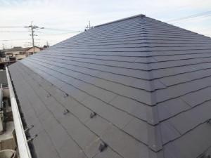 柏の外壁塗装と屋根塗装の屋根の施工後写真