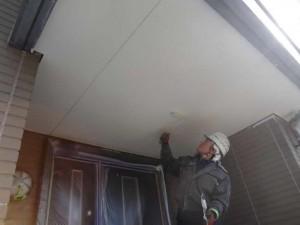柏の外壁塗装と屋根塗装の軒天の施工後写真