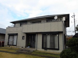 柏の外壁塗装と屋根塗装の外観の施工前写真