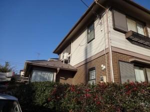 白井市 S様の外壁塗装と屋根塗装の外壁の施工前写真