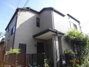 柏市 I様の外壁塗装と屋根塗装の外壁の施工前写真