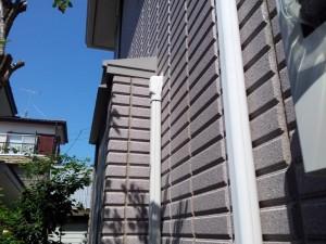 柏市 N様外壁塗装と屋根塗装の外壁の施工前写真