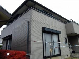 柏の外壁塗装と屋根塗装の外壁の施工前写真