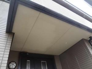 柏の外壁塗装と屋根塗装の軒天の施工前写真