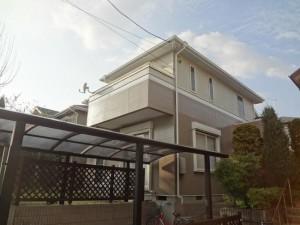 柏市の外壁塗装と屋根塗装の外観の施工後写真