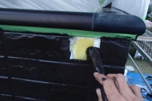 千葉県成田市M様邸の外壁塗装と屋根塗装工程:塗装