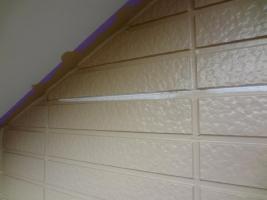 茨城県龍ヶ崎市K様邸の外壁塗装と屋根塗装工程:あいじゃくり部分の補修