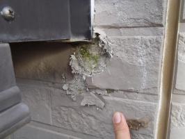 千葉県成田市M様邸の外壁塗装と屋根塗装工程:劣化箇所のパテ補修