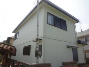 取手市の外壁塗装と屋根塗装の外壁の施工後