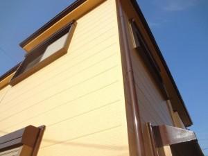 松戸市N様邸の外壁塗装と屋根塗装の外壁の施工後写真