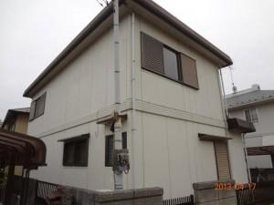 取手市の外壁塗装と屋根塗装の外壁の施工前