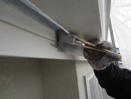 千葉県柏市N様邸の外壁塗装と屋根塗装工程:下塗り