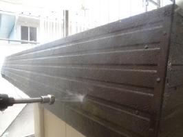 茨城県取手市O様邸の外壁塗装と屋根塗装工程:高圧洗浄