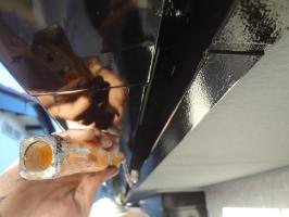 千葉県我孫子市H様邸の外壁塗装と屋根塗装工程:上塗り2回目(1液ファインシリコンセラUV))