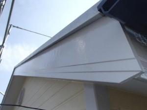 茨城県取手市 A様邸 外壁塗装と屋根塗装の破風板の施工後写真