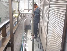 千葉県我孫子市U様邸の外壁塗装と屋根塗装工程:高圧洗浄