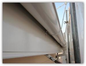 柏市の外壁塗装と屋根塗装の破風板の施工後写真