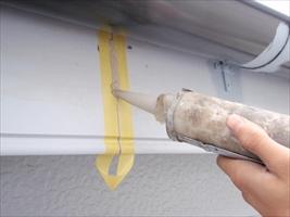千葉県柏市和田様邸の外壁塗装と屋根塗装工程:目地のコーキング剤