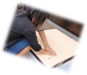 千葉県柏市和田様邸の外壁塗装と屋根塗装工程:手形作り