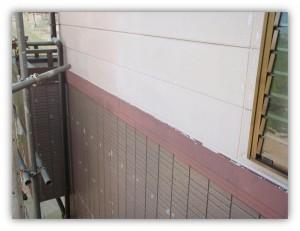 我孫子市の外壁塗装と屋根塗装の幕板の施工前写真