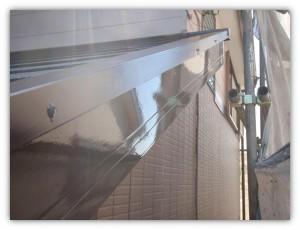 我孫子市の外壁塗装と屋根塗装の破風板の施工後写真