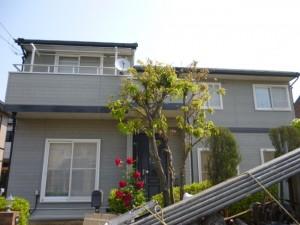 守谷市の外壁塗装と屋根塗装の外観の施工前写真