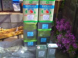 千葉県我孫子市I様邸の外壁塗装と屋根塗装工程:使用材料1