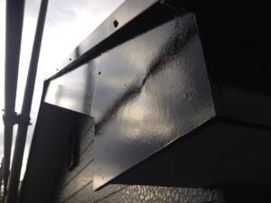 柏の外壁塗装と屋根塗装の破風板の施工後写真