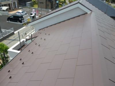 守谷市の外壁塗装と屋根塗装の屋根の施工後写真