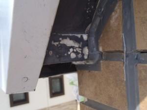 松戸市の外壁塗装と屋根塗装の軒天の施工前写真