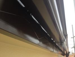 千葉県我孫子市I様邸の外壁塗装と屋根塗装工程:破風板