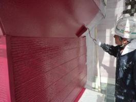千葉県印西市H様邸の外壁塗装と屋根塗装工程:中塗り