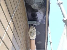 千葉県松戸市S様邸の外壁塗装と屋根塗装工程:下塗り