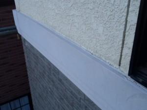野田市の外壁塗装と屋根塗装の幕板の施工前写真