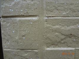 茨城県取手市H様邸の外壁塗装と屋根塗装工程:打ち替えをしたコーキングの状態
