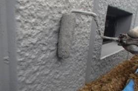 千葉県成田市M様邸の外壁塗装と屋根塗装工程:上塗り2回目(アートフレッッシュ)