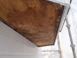千葉県柏市O様邸の外壁塗装と屋根塗装工程:軒天の交換