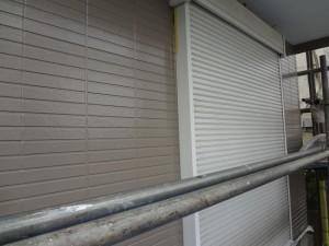 柏市の外壁塗装と屋根塗装のシャッターの施工前写真