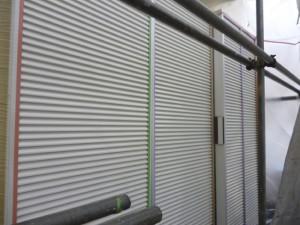 千葉県柏市 K様邸 外壁塗装と屋根塗装の雨戸の施工前写真