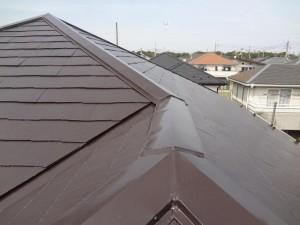 柏市の外壁塗装と屋根塗装の屋根の施工後写真