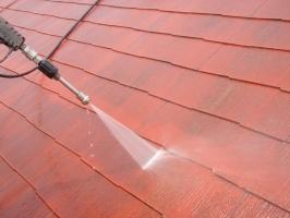 千葉県柏市の屋根塗装工程の高圧洗浄