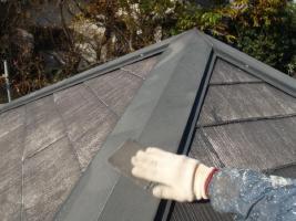 千葉県松戸市の屋根塗装工程の板金部のケレン