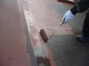 江戸川区M様邸 屋根塗装 上塗り2回目