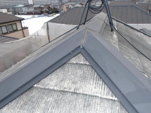 千葉県柏市 O様邸 外壁塗装と屋根塗装の屋根の施工前写真