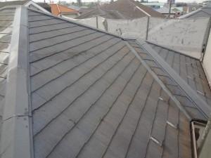 千葉県松戸市 外壁塗装と屋根塗装の屋根の施工前写真