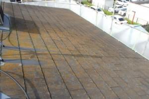 成田市の外壁塗装と屋根塗装の屋根の施工前写真